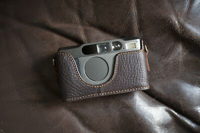 $ CDN72.86 • Buy Handmade Genuine Real Leather Half Camera Case Bag Cover For Contax T2 Brown