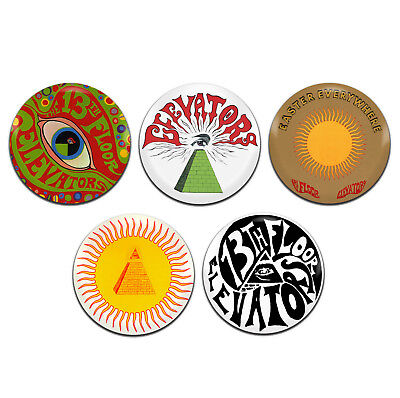 $ CDN5.13 • Buy 5x 13th Floor Elevators Band Psychedelic Rock 25mm / 1 Inch D Pin Button Badges
