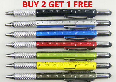 7 In 1 Handy Gadget Stylus With Ballpoint Pen, Screwdriver, Ruler & Level • 2.95£