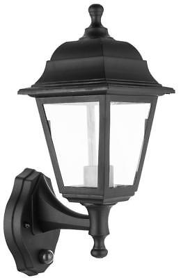 Wall-Mounted Lamp Outdoor Garden Light With Dusk To Dawn Sensor Black • 12.91£