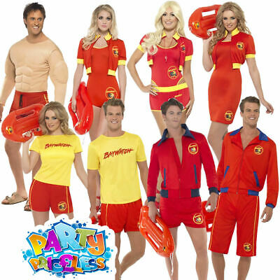 £21.99 • Buy Mens Womens Official Baywatch Lifeguard Fancy Dress 1990s Stag Hen Party Costume