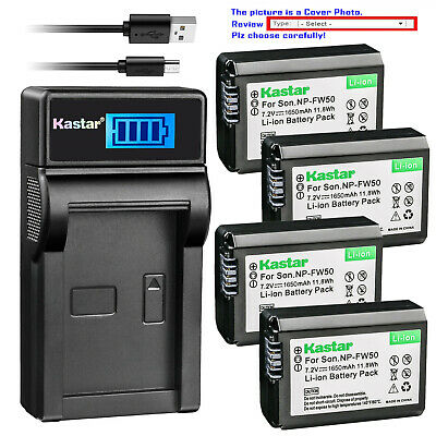 $ CDN23.91 • Buy Kastar Battery LCD Charger For Sony NP-FW50 BC-TRW & Sony ILCE-6000 Alpha A6000