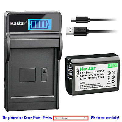 $ CDN10.03 • Buy Kastar Battery LCD Charger For Sony NP-FW50 BC-TRW & Sony ILCE-6500 Alpha A6500