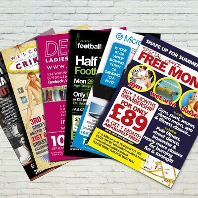 £79.95 • Buy 5000 A5 Flyers / Leaflets Printed On 130gsm Gloss Fuill Colour Double Sided