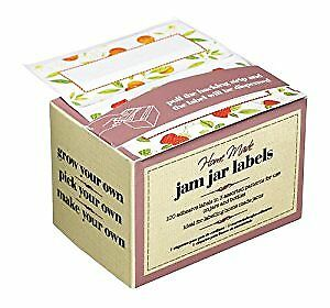 Box Of 100 Kitchen Craft Jam Jar Preserve Labels Self-Adhesive Jellies Marmalade • 5.59£