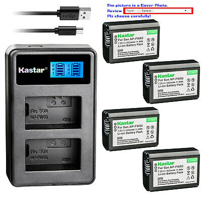 $ CDN12.58 • Buy Kastar Battery LCD Dual Charger For Sony NP-FW50 BC-VW1 & ILCE-6000 Alpha A6000