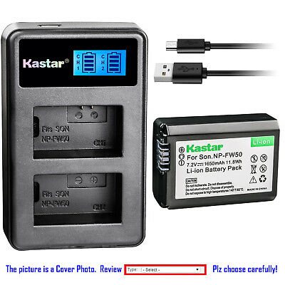 $ CDN25.16 • Buy Kastar Battery LCD Dual Charger For Sony NP-FW50 BC-VW1 & ILCE-6500 Alpha A6500
