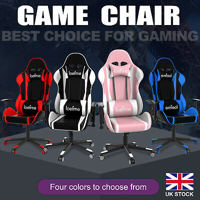 £79.99 • Buy Racing Gaming Chair Recliner Swivel Computer Office Desk Chair Lifting Handrail