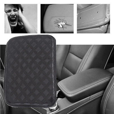 $ CDN9.21 • Buy Leather Car Center Console Armrest Box Pad Cushion Cover Armrests Pads Plush Pad