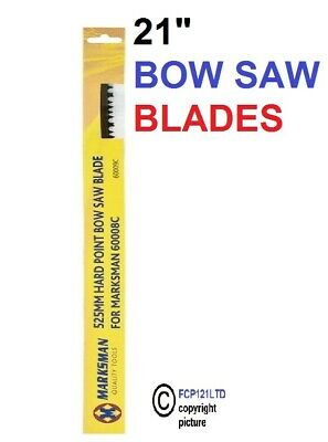 £4.85 • Buy 21  Bow Saw Heavy Duty Tree Branch Wood Log Pruning Guard 2 Spare Sharp Blade 34