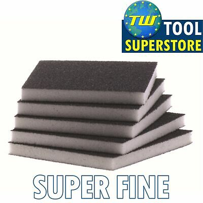 Super Fine Flexible Wet & Dry Abrasive Sanding Foam Sponge Sand Pad Multi Packs • 3.50£
