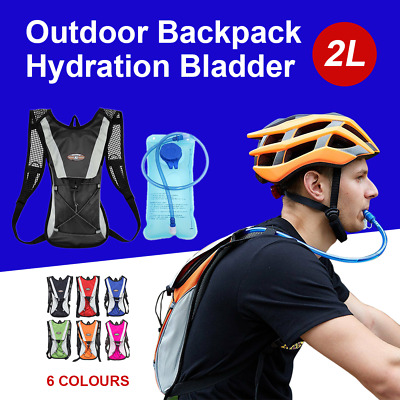 AU19.99 • Buy Hydration Pack Water Backpack 2L Bladder Bag Cycling Bicycle Hiking Climbing