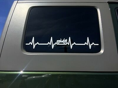 AU13.92 • Buy EKG Heartbeat Vinyl Decal 22.5  X 4  For Wrangler TJ YJ CJ Sport Sahara SE S X