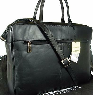 New Ladies Visconti Black Leather Laptop Briefcase Bag • 94.99£