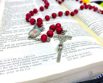 £3.98 • Buy Rosary Beads With Scents Of Roses, Rosary Of Papa Francis / Our Lady Of Rosary