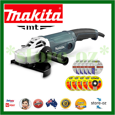 AU297.45 • Buy Makita Angle Grinder 230mm 9 Inch Powerful 2000W Cord Trigger Switch + 10 DISCS