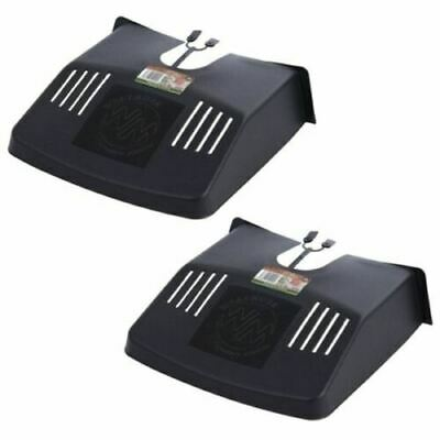 2 X DRAIN TIDY DRAIN COVER WITH FITTINGS BLACK PLASTIC OUTDOOR LEAF GUARD GUTTER • 6.85£