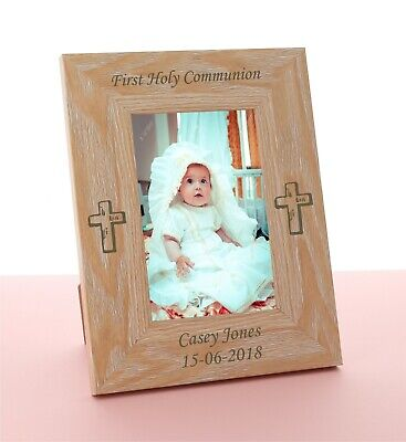 £9.98 • Buy Personalised First Holy Communion Engraved Photo Frame, Gift,  Boy Or Girl
