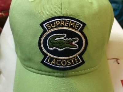 $ CDN147.48 • Buy Supreme LACOSTE Twill 6-Panel Green Cap Hat New SS18 Authentic