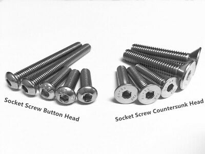 AU6.30 • Buy M3 M4 M5 M6 M8 Socket Screw Countersunk Head Button Head Stainless Steel 304