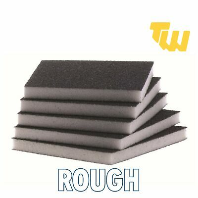 Rough Grit Flexible Wet & Dry Abrasive Sanding Foam Sponge Sand Pad Multi Packs • 3.50£