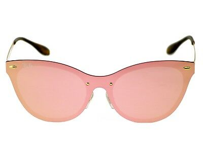 $59.99 • Buy Ray-Ban RB3580N Blaze Cat Eye 043/E4 Gold Frame/Pink Mirror Lenses Unisex 43mm