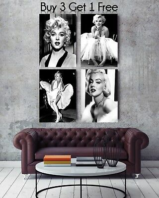 Superb Marilyn Monroe Canvas Framed Pictures Movie Film Wall Art 30 X20  • 29.99£