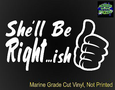 AU6.90 • Buy RIGHT...ish Funny Aussie BNS JDM 4x4 Ute Camping Car Stickers 200mm