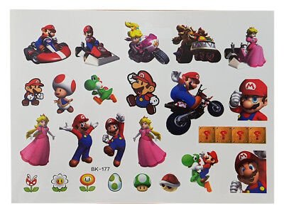 Kids Temporary Tattoo MARIO Great For Party Bags  • 1.99£
