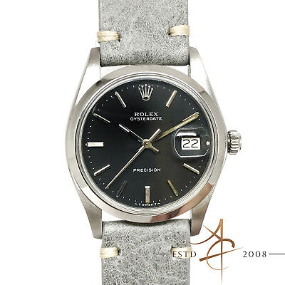 $ CDN3097.61 • Buy Rare Rolex Oysterdate Precision 6694 Anthracite Gray Dial Vintage Watch 1976