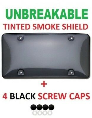 $5.95 • Buy Auto Car Clear Tinted License Plate Cover Smoked Bubble Shield Tag Black