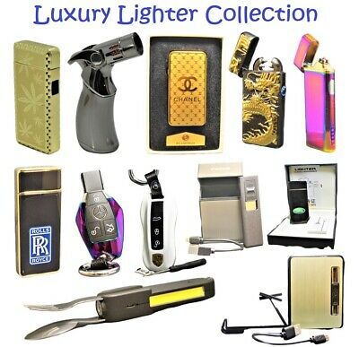 USB Rechargeable Electric Windproof Metal Cigar Cigarette - LIGHTER COLLECTION • 14.95£