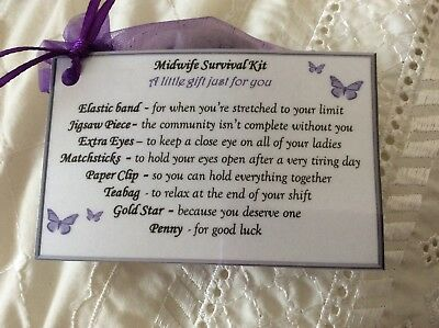 Keepsake Thank You Gift For Midwife Survival Kit Birthday Colleague Gift Present • 2.29£
