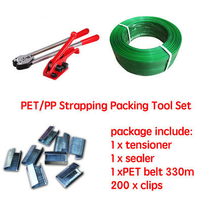 AU125.95 • Buy ALL In 1 Manual PET Strapping Tools Packing Machine Set Heavy Duty Straps Seals
