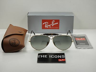551a9fef28bbe Ray-ban Shooter Havana Sunglasses Rb3138 181 71 Gold Frame grey Lens New