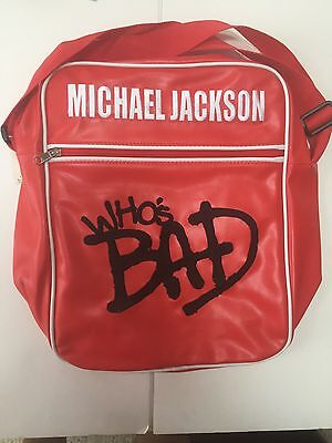 MICHAEL JACKSON WHOS BAD RED VINYL BAG Brand New With Tags • 209.53£