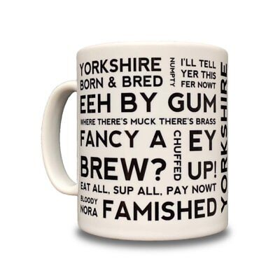 Yorkshire Dialect Ceramic Mug - Great Gift! - Yorkshire Phrases And Sayings • 7.95£