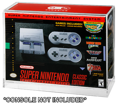 $ CDN39.63 • Buy Nintendo SNES/NES Classic Mini Console Boxed Acrylic Display Case