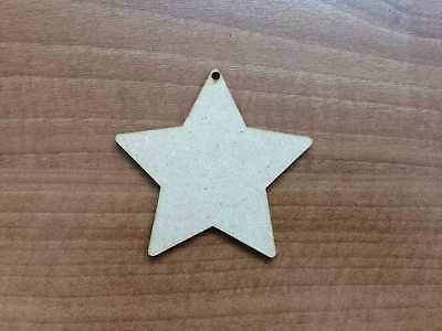 Wooden Mdf Star Rounded Shapes Embellishment Craft Blank Various Sizes Tag E294 • 2.10£
