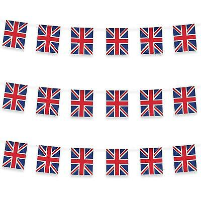 10M 20 Flag Bunting GB Union Jack Garland Street Party UK Day Decorations • 2.69£