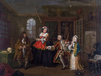 £32.05 • Buy William Hogarth - Marriage A-la-Mode 3, The Inspection, Art Poster, Canvas Print
