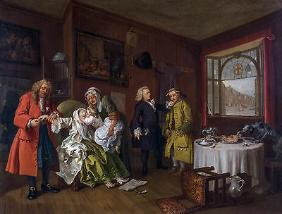 £32.05 • Buy William Hogarth - Marriage A-la-Mode 6 The Lady's Death Art Poster, Canvas Print
