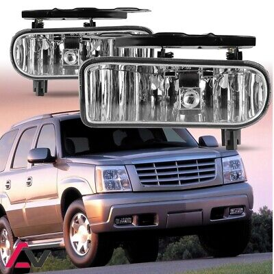 $29.57 • Buy 02-06 For Cadillac Escalade Clear Lens Pair Bumper Fog Light Lamp OE Replacement