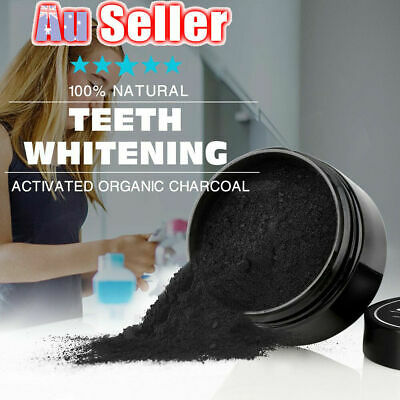 AU11.58 • Buy Carbon Coco Organic Teeth Whitening Powder Coconut Charcoal Tooth Polish White