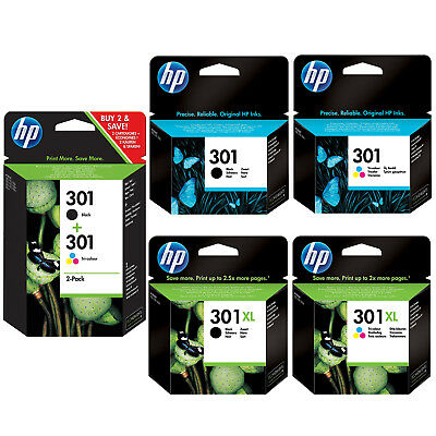 £18.85 • Buy Genuine HP 301 Combo / 301XL Black & Colour Ink Cartridges *Choose Your Ink*