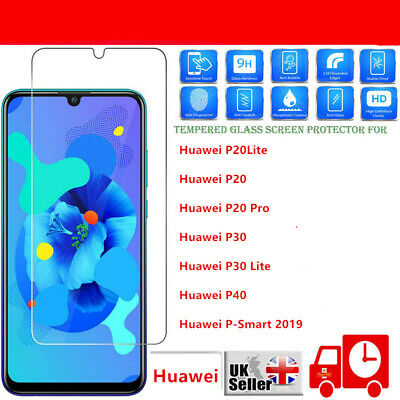 FOR Huawei P20 Pro Lite P30 P40 Protection Tempered Glass Screen Protector NEW • 1.99£