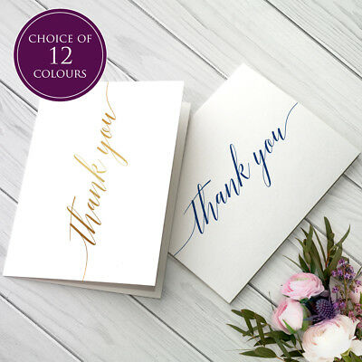 £4.49 • Buy Folded Thank You Cards Wedding Birthday Pack Of 10 Including Envelopes Notes