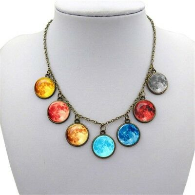 AU9.36 • Buy Gift Chain For Women Creative Jewelry Pendant Choker Glass Cabochon Necklace