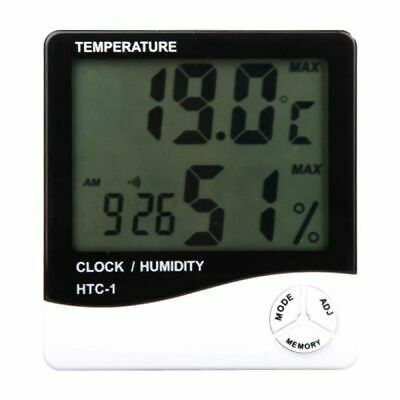 Digital Thermometer Humidity Meter Hydroponics Grow Room LCD Hygrometer • 7.99£