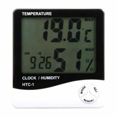 Hydroponics Digital Thermometer Humidity Meter Grow Room LCD Hygrometer • 7.99£